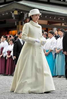 Princess Kako of Akishino visits the Geku (outer shrine) at Ise Shrine on March 6, 2015 in Ise, Mie, Japan.