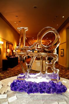 LOVE ice sculpture | Kis(Cubed) Event Planning | The Big Fat Indian Wedding