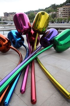 dont gorget to do a  jeff koons lesson Tulips by Jeff Koons . #jeffkoons http://www.widewalls.ch/artist/jeff-koons/