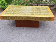 So Funky!! 1970's Retro Green Tile Topped German Made Coffee Table Great Quality