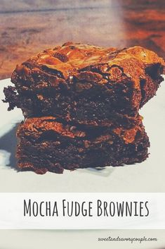 Mocha Fudge Brownies – The Sweet & Savory Couple