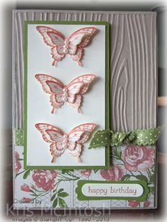 Butterfly Birthday Card: this gorgeous step-by-step tutorial is not to be missed. Learn how to make a birthday card for the butterfly-lover in your life! Birthday Cards For Women, Handmade Birthday Cards, Greeting Cards Handmade, Butterfly Birthday Cards, Butterfly Cards, Silhouette Cameo, Envelopes, Scrapbook Cards, Scrapbooking