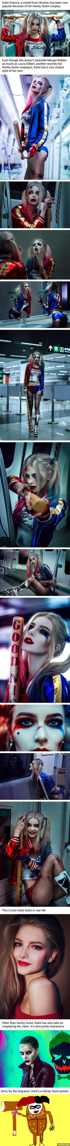 A very well executed Suicide Squad Harley Quinn Cosplay. All though I don't like the Suicide Squad design for her, I gotta give credit where credit is due. She did amazing and her Jared Leto Joker is better than the actual one! Harley Quinn Cosplay, Joker And Harley Quinn, Cosplay Anime, Cosplay Girls, Amazing Cosplay, Best Cosplay, Marvel Dc, Gotham, Pinturas Disney