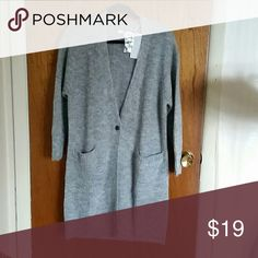 """Long Cardigan Mohair Blend  Cardigan  37"""" length   Size small but can fit a medium Uniqlo Sweaters Cardigans"""