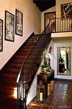 1928 Spanish/Mediterranean masterpiece beautifully restored and furnished. Spanish Colonial, Alexandria, Jessica Hecht, Restoration, Home And Family, Stairs, Interior Design, Building, California