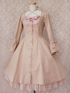 This modest Victorian Maiden dress has a bustle in the back.