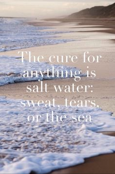 The cure for anything is salt water: sweat, tears, or the sea.
