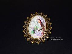 Ellys Shop: Brosa imagine pasare Brooch, Handmade, Shopping, Jewelry, Hand Made, Jewlery, Bijoux, Brooches, Schmuck