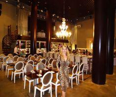 """Night out at """"Bongos"""" Cuban Cafe.  Leopard print dress."""