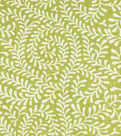 Home Decor Fabric Swatch-Annie Selke Scramble Citrus Textiles, Textile Patterns, Annie, Green Home Decor, Home Decor Fabric, Drapery Fabric, Green Fabric, Outdoor Fabric, Inspired Homes