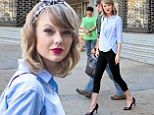 She's a bit dressed up for the gym! Taylor Swift makes an exit from fitness class in heels and full make-up in NYC