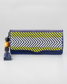 V1AUP Rebecca Minkoff Tribal Woven Clutch Bag