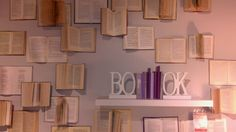 Books on the wall & shelf (at Kika Budapest)