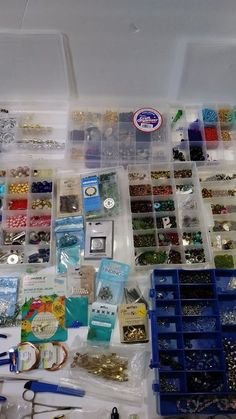 Huge Lot Of Jewelry Making Supplies - Beads. Tools.Pendants #Assorted
