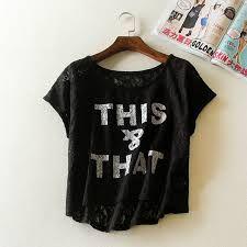 Resultado de imagen de moda en blusas flojas  con letras de forever 21