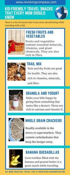 Travel friendly healthy snacks for kids