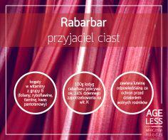 Czym prędzej biegnijcie na najbliższy targ po rabarbar! Nie dość, że to prawdziwa roślinna kopalnia witamin i minerałów (B, K, luteina, foliany), pomagających utrzymać #wiecznamlodosc, to idealnie nadaje się do ciast. Sprawdźcie przykładowy przepis na pyszne ciasto z rabarbarem: http://bit.ly/1nyTgXC  #ageless #wiecznamlodosc #rabarbar #witaminy #przepis www.ageless.pl