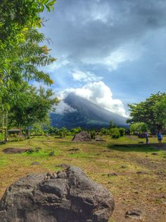 Mayon Volcano peeking at the back. Volcano, Philippines, Earth, Explore, Mountains, Travel, Viajes, Destinations, Traveling