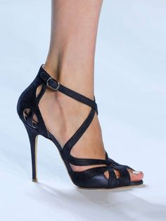 Fashion Solid Color Caged Thin Heeled Sandals (US4/US4.5/US5.5/US6/US7/US8/US8.5/US9.5/US10/US11) $48.99