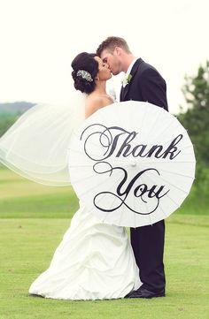 Wedding Personalized Custom Thank You Parasol Hand Painted Umbrella SALE on Etsy, $37.18 AUD