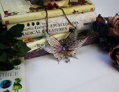 Beautiful Pointed Purple Flower Fairy Wing/ by JustAsStrangeAsIAm