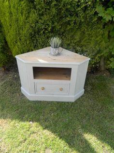Shabby Stunning Pine Corner Tv Cabinet Painted