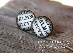 Black Stallion Kidney Back Earrings By Poisonberryjewelry On Etsy, $10.00