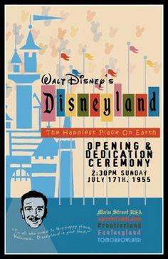 1955 Disneyland Opening Day Poster Walt Disney Reagan Buy Any 2 Get 1 Free | eBay