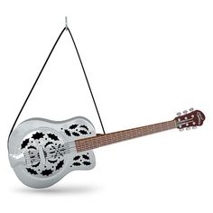 Up on the Housetop Guitar Musical Ornament