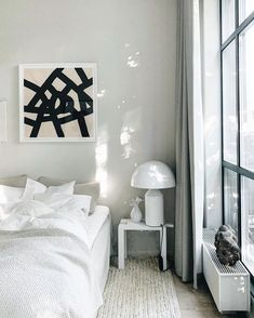 Waking up to this light. and new bedskirt by Ilse Crawford for Classic Bed Linen, Atollo Lamp, Interior Stylist, Interior Design, Modern Scandinavian Interior, Headboard Cover, Bed Legs, Mid-century Modern, Instagram