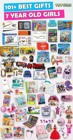 Browse our Gift Guide featuring 300+ Best Toys and Gifts For Girls. Discover educational toys, unique kids gifts, kids games, kids books, and more for your 7 year old girl. Make her Birthday or Christmas extra magical with these delightful picks she'll love! #giftguide #birthdaygifts #christmasgifts #giftideasforkids