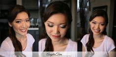 Makeup and Hair: Angela Tam Bridal Hair Down, Bride Makeup Natural, Celebrity Wedding Makeup, Pageant Makeup, Asian Bridal Makeup, Wedding Makeup Artist, Asian Bride, Down Hairstyles, Hair Designs
