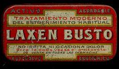 """INDALO- Antigua cajita de lata """"LAXEN BUSTO"""". Madrid !!!!!!!!!!!!!!!!!!!!!!!!!!!"""
