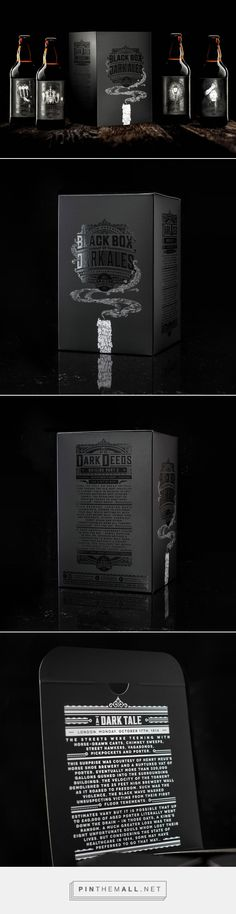 4 Pines Brewing Co. - The Black Box - Packaging of the World - Creative Package Design Gallery - http://www.packagingoftheworld.com/2016/11/4-pines-brewing-co-black-box.html