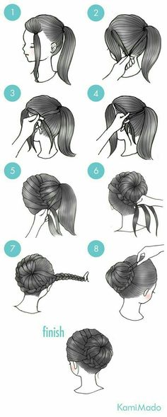 Box braids in braided bun Tied to the front of the head, the braids form a voluminous chignon perfect for an evening look. The glamorous touch: mix plum, caramel and brown locks. Box braids in side hair Placed on the shoulder… Continue Reading → New Hair, Your Hair, Tips Belleza, Cute Hairstyles, Hairstyle Ideas, Ballet Hairstyles, Mexican Hairstyles, Latest Hairstyles, French Hairstyles
