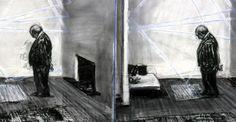 Os seus desenhos são frequentemente considerados como palimpsestos, ou seja, um manuscrito em que o texto original foi apagado e substituído. Na obra de Kentridge, a folha de papel torna-se camada sobre camada de imagens que evoluem e mudam, onde os estados anteriores do desenho só existem através de traços intencionalmente deixados. A presença desses vestígios ajuda a intensificar o movimento das suas figuras e a observar o processo do carvão no vegetal e da borracha no papel.