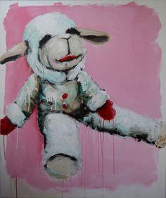 Plush and Plastic 2015 exhibition Lamb Chops, Still Life, Plush, Toast, Anime, Paintings, Facebook, Paint, Painting Art