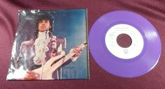 Rare Prince - Purple Rain - Purple vinyl 45 rpm Record & Custom Sleeve