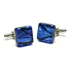 639b9a506470 Check out the deal on Cracked Blue Murano Glass Cufflinks at Cufflinks  Depot Murano Glass,