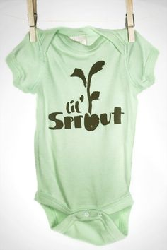 Organic lil sprout onesie shoptoddah