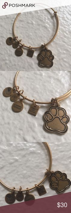 Alex and Ani Paw Print - NWOT Never worn Alex and Ani bracelet. Perfect stocking stuffing for a pet lover! Alex & Ani Accessories