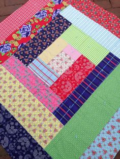Baby Girl Quilty Throw by babyburritoquilts on Etsy, $150.00
