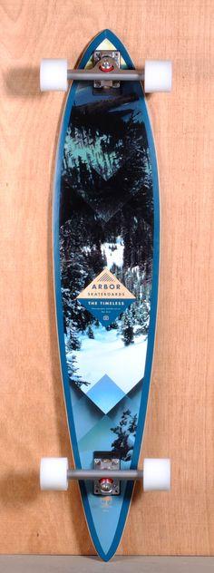 "Arbor 46"" Timeless Pin Longboard Complete - Walnut"