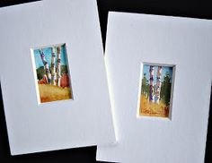 In and Out of The Studio: Very Small Birch Trees
