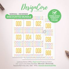 Lularoe Facebook Live Sale Bundle Reversed Mirrored Normal Number Tag, 000, 999, Home Office Approved, Polka Dot, Instant Download,DCLSTB001