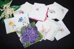 Vintage Handkerchief  Bouquet Flower by CheekyVintageCloset, $34.50