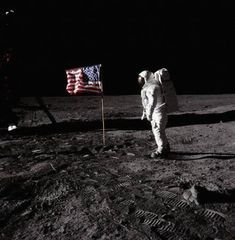 Few images we have seen, or will ever see, can have this much impact! Photographed on the lunar surface, this image depicts astronaut Buzz Aldrin, standing next to the flag of the United States, in July 1969.