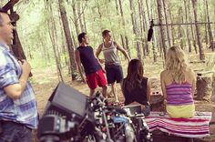"Behind the scenes of ""The Vampire Diaries"" 6×03 'Welcome to Paradise' #TVD"