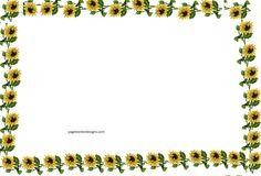 Sunflowers Border Design for Books Page Border 2016 sadiakomal