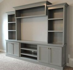 Built-in Entertainment Center Ideas. Find ideas and inspiration for Built-in Entertainment Center Ideas to add to your own home. built in 7 DIY Entertainment Center Ideas to Design at Home Ruang Tv, Built In Entertainment Center, Entertainment System, Party Entertainment, Muebles Living, Family Room Design, Living Room Tv, Tv Wall Ideas Living Room, Living Room Storage Units